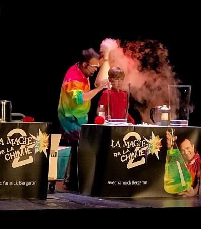 Spectacle La Magie de la Chimie de Yannick Bergeron