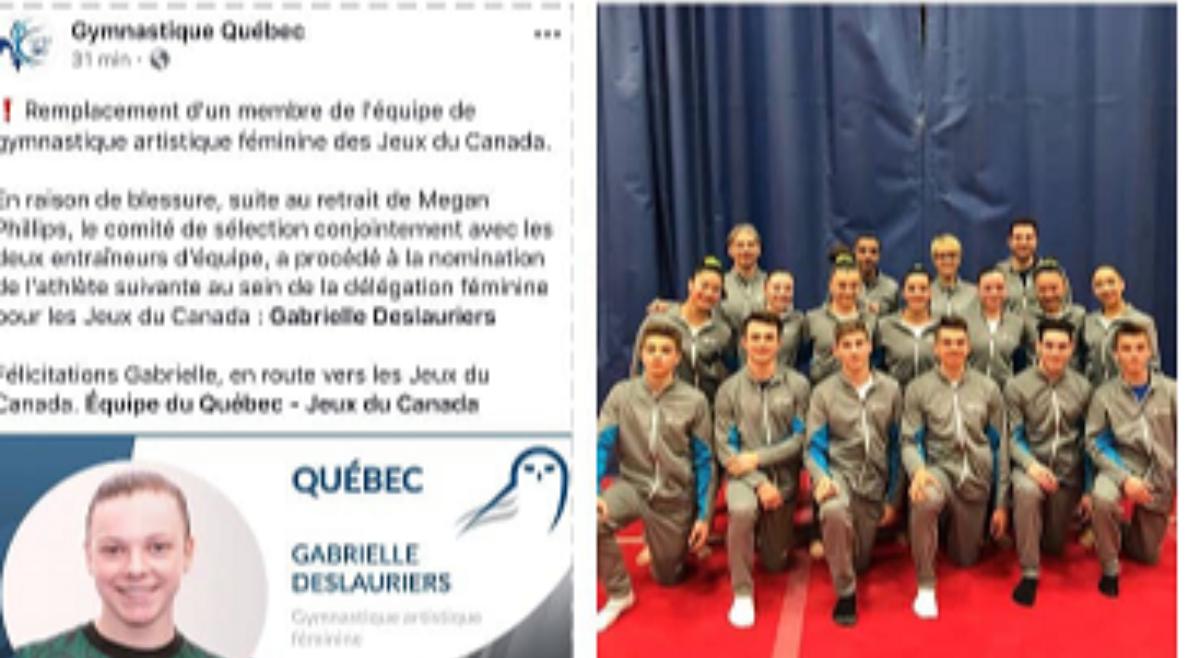 Gabrielle Deslauriers S4 participera aux Jeux du Canada