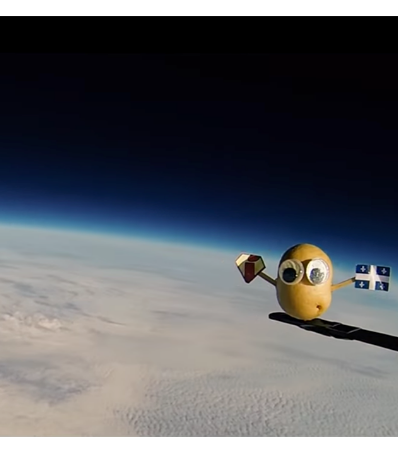 Une sonde patate envoyée à 106 929 pieds par un ancien élève de l'Académie